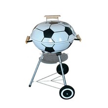 Black and white football helmet design portable bbq charcoal grill