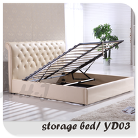 Lift Up Storage Bed With Leather Upholstered YD03