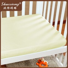 wholesale baby crib bedding set 100% cotton plain dyed fitted crib sheet