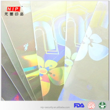 High tech pet material hologram hot laminating pouch film