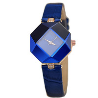 Little Business Wholesale Korean Style Watch Fashion Lady Waterproof Diamond Prismatic Watch