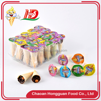 Best price ice cream shaped china crispy biscuit chocolate brands