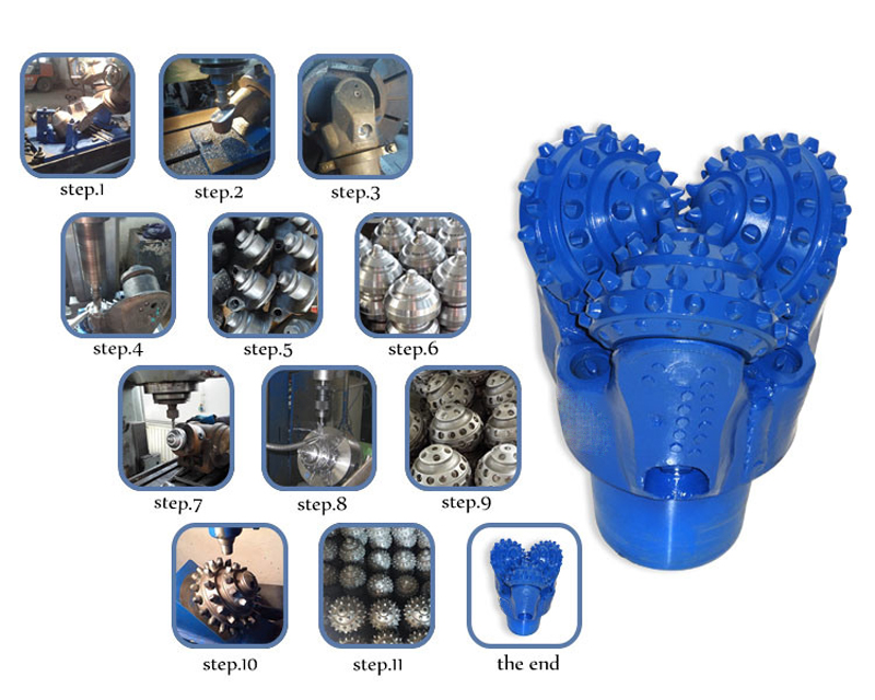 Water well tungsten carbide insert tricone oil rig drill bits