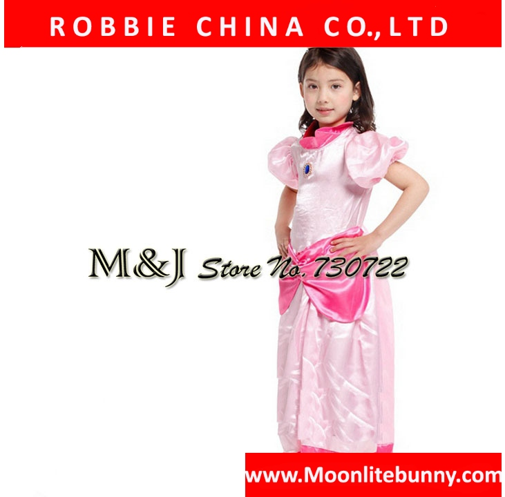 !!Christmas Halloween girls elegant peach princess dress Cosplay stage festival costumes