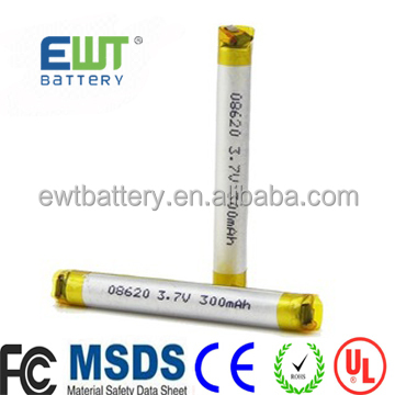 Ewt brand lp 08300 3.7V 120mAh li-polymer Round Lipo Battery for Rechargeable Lithium ion Camera Pen battery
