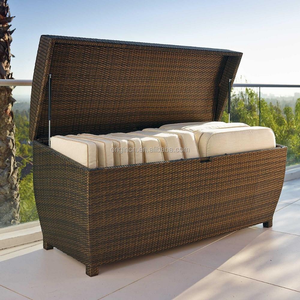 Hotel Outdoor Swimming Pool Furniture Rattan Storage Box Wicker Chest Buy W