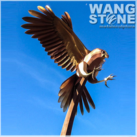 Metal Outdoor Corten Steel Eagle Sculpture