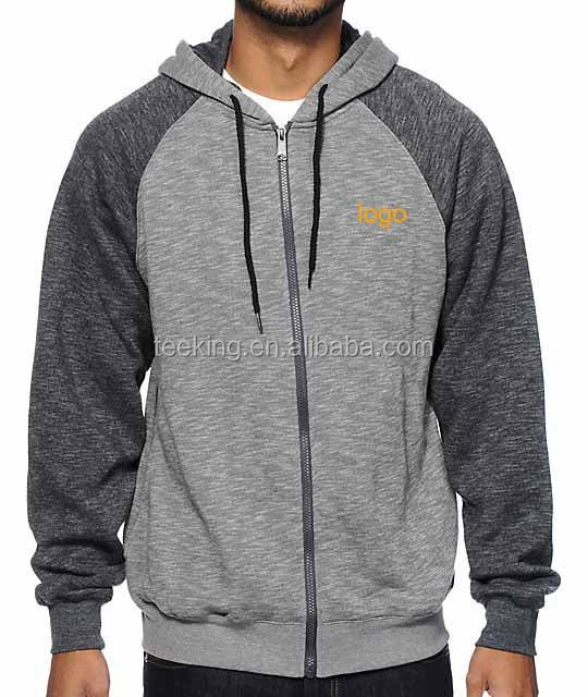 80% cotton 20% polyester heather grey pullover custom mens gym hoodie