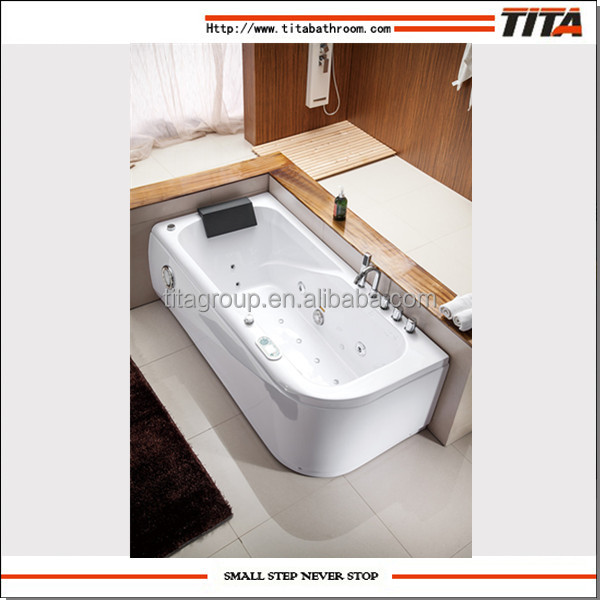 Acrylic classical jet whirlpool bathtub with tv