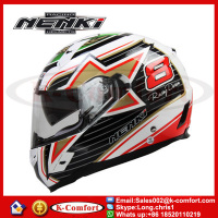 KCM1633 Nenki Italy Braz Flag Racing Bicycle Full Face Scooter motorcycle helmet off country helmet DOT With for Men and Women