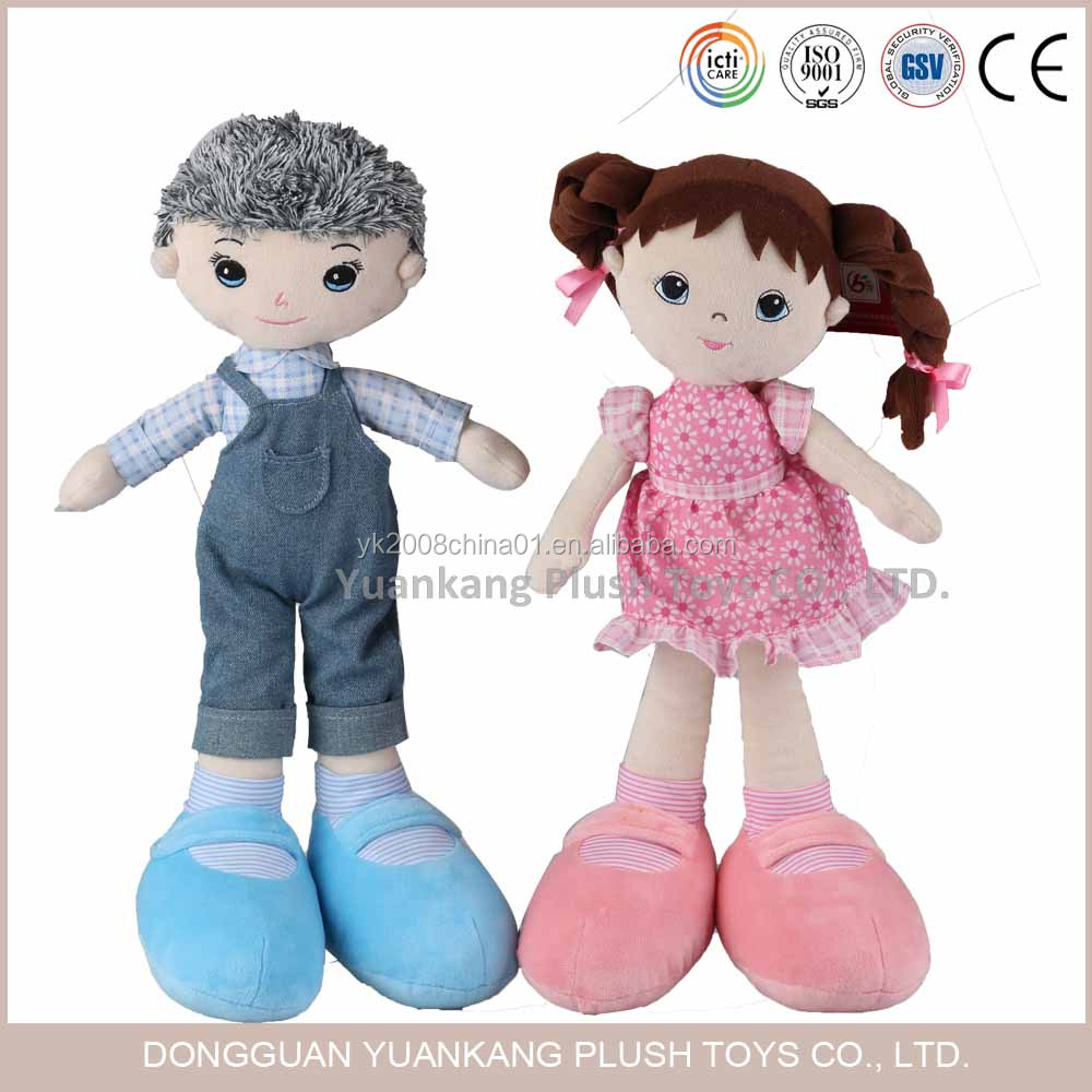 China cheap handmade cotton baby plush rag doll