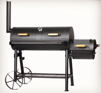 European Style Offset Smoker BBQ Barbecue Grill for Outdoor