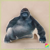 OEM factory custom design orangutan soft short plush 3d china animal tube cushion