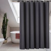 Bathroom waterproof solid jacquard shower curtain