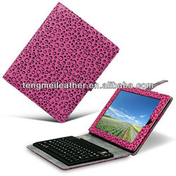 Bluetooth Wireless Keyboard Leopard Leather Cover Folio Case For iPad5/air,Shockproof Case For Ipad 5th/Air