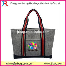 Best selling plain wool felt tote handbags of China manufacturer
