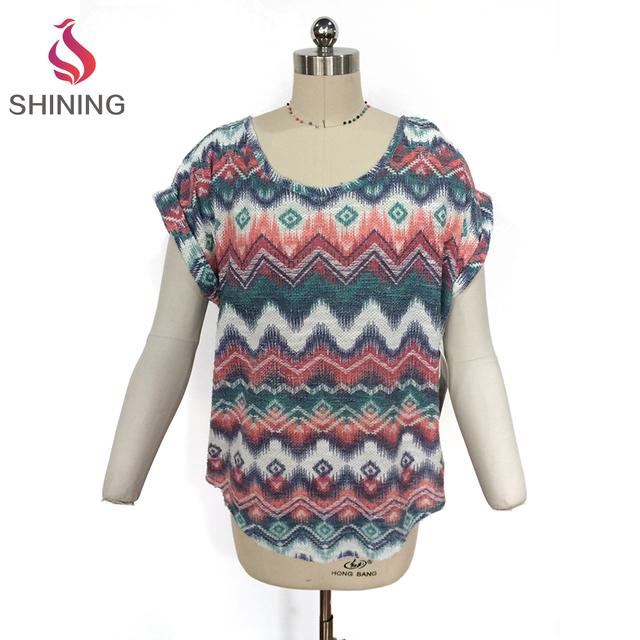 Newest fashion lady casual loose free size bat sleeve cute girlst-shirt plain burnout long sleeve shirt wholesale for women