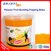 Taiwan Hot Selling Bubble Tea Passion Fruit Flavor Bursting Juicy Ball Popping Boba Supplier