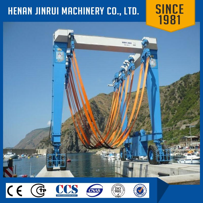 Rubber Tyre Mobile Boat Gantry Crane For Sale/ Marine Travelling Lift Travelift