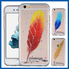 C&T 3D Clear Feathers Plumage abstract pattern back cover case for acer liquid z530