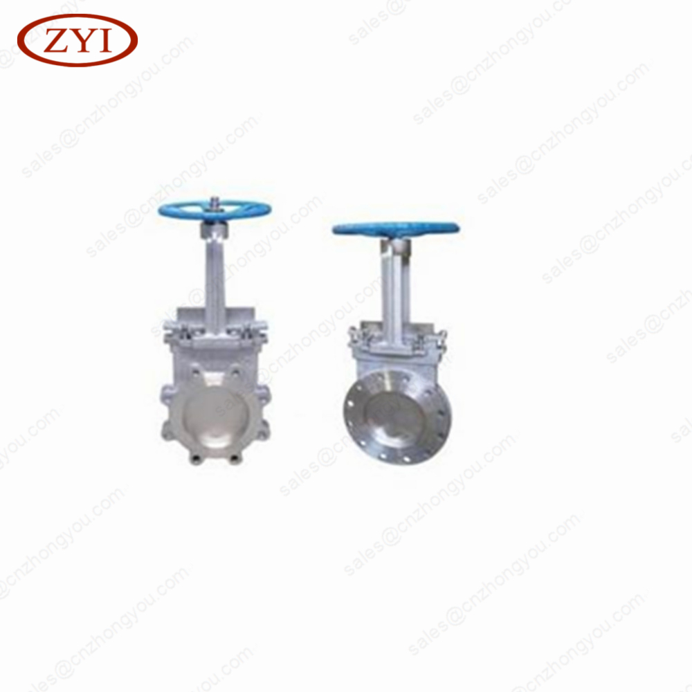 Standard Stainless Steel Pneumatic Actuator Knife manual alloy steel gate valve