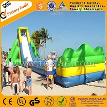 Giant Inflatable water slide beach slide hippo slide A4040