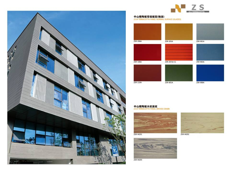 Outside fired brick Terracotta wall sliding tiles ,light weight exterior brick panels,terracotta curtain wall board tiles