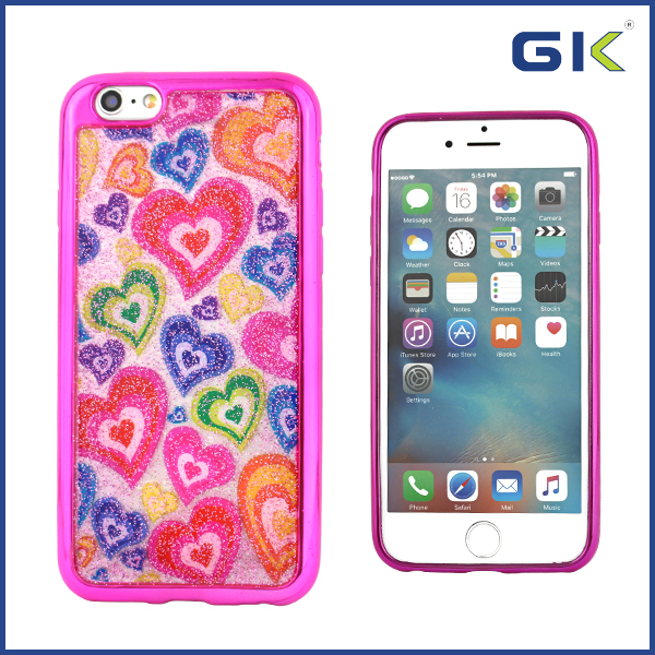 [GGIT] Fashion With Love Design Epoxy Electroplating TPU Mobile Phone Case For IPhone 6 Cover