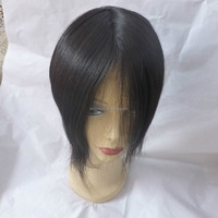 2014 qingdao hot selling silk top indian women hair toupee wig