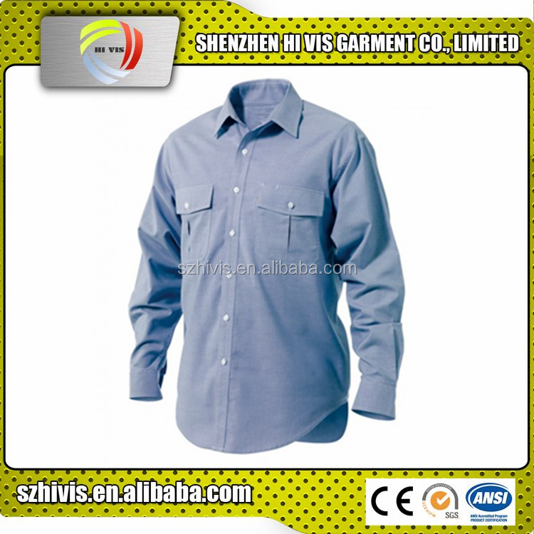 new design wholesale custom casual cotton/polyester mens oxford shirts