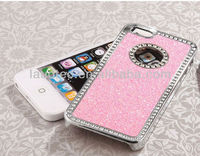 2013 New arrival Diamond Rhinestone Glitter Bling Chrome Hard Case Cover for Apple iPhone 5 5G Laudtec