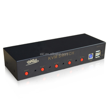 support audio switch 4x1 VGA KVM switch box 4 input 1 output USB keyboard mouse,350MHz,metal case