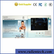 kinds of inch LCD screen invitation card video greeting brochure electronic paper card