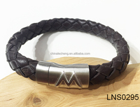 2016 Leather Bracelet for Men Cheap Price Leather Bracelet with Magnetic Clasp