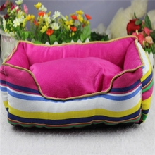 High - grade luxury canvas stripes pet beds for dogs and cats