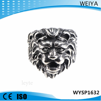 2015 fashion jewelry wholesale cheap custom hand made stainless steel lion casting ring
