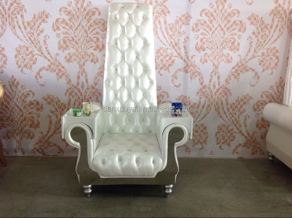 Luxury crystal button silver armchair ,waiting chairs in barber shop foshan furniture