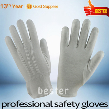 18g weight customized China white cotton gloves without pvc dots
