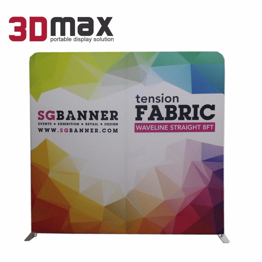 Best selling portable fabric event display booth backdrop stand for trade show exhibitions with high quality