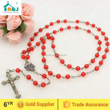 Religious catholic plastic rosary bead wholesale necklace