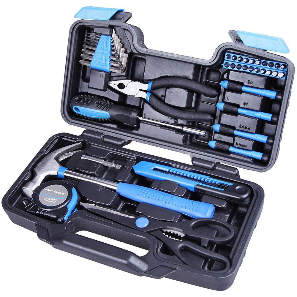 Plastic Toolbox Storage Case packing General Household Hand Tool <strong>Kit</strong>,hand tool set