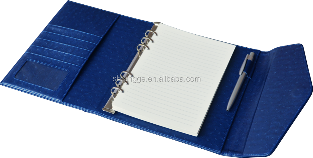 clear book refillable pocket book with pen
