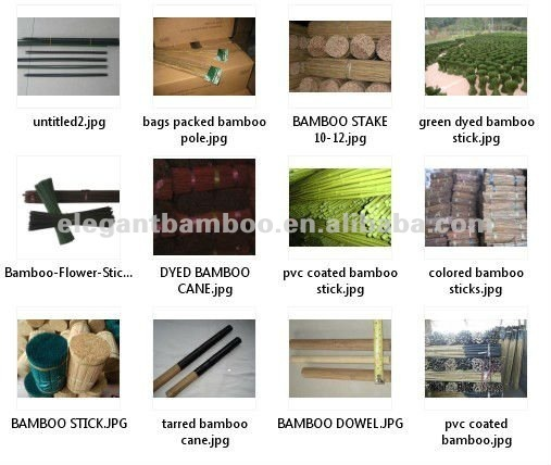 bamboo stick stake natural / dyed color for agriculture and horticulture