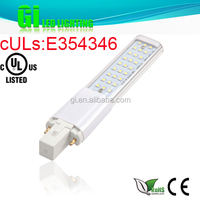 UL CUL CE RoHS approved G23 LED bulb light with 100-277V Isolated driver