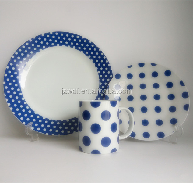 ODM Offered Factory Directly Spply Item Fine Porcelain Dinnerware Set Large Stock Ceramic Homeware