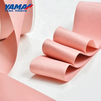 YAMA new 10 sizes polyester double faces smooth silk ribbon