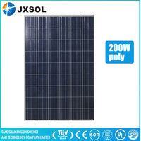 Best price per watt and high quality poly 200w PV modules solar panels with TUV CE ISO