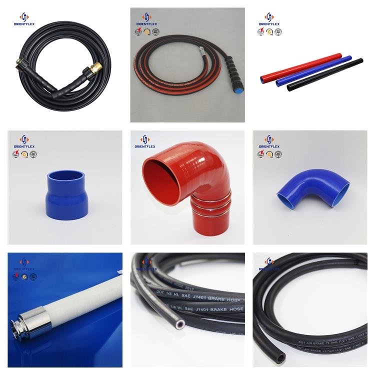 Silicone steel spiral wire reinforced flexible hose silicone