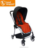 Strolling-optimized Eagle-series baby buggy with five-point harness featuring one-hand button to supply baby full protection