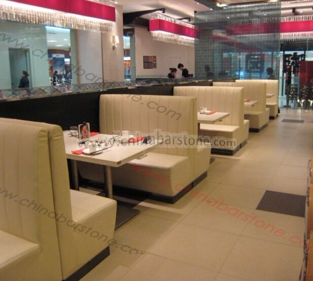 durable restaurant booth sofa with double side